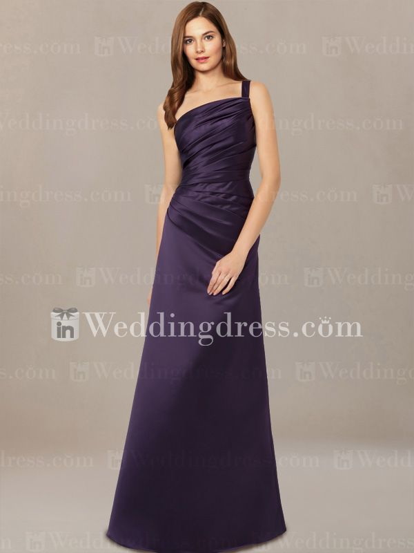 Asymmetrical Bridesmaid Dress with Ruched Bodice BR173