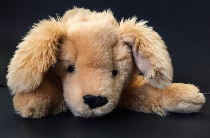 Folkmanis Golden Retriever Puppy Dog Puppet Plush Stuffed Animal #Folkmanis