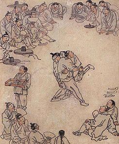 El Sirum es una lucha tradicional coreana. Como mis estudiantes son extranjeros viviendo en Corea, seria interesante explicarles como era la lucha antes y como es ahora. Michelle twitter @edusec21