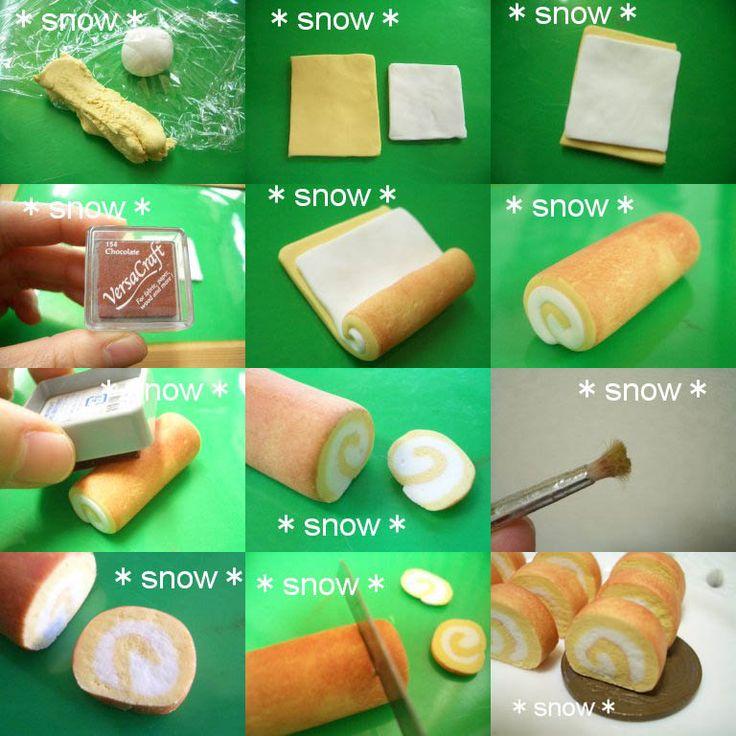 Créer des roulés en pâte à modeler