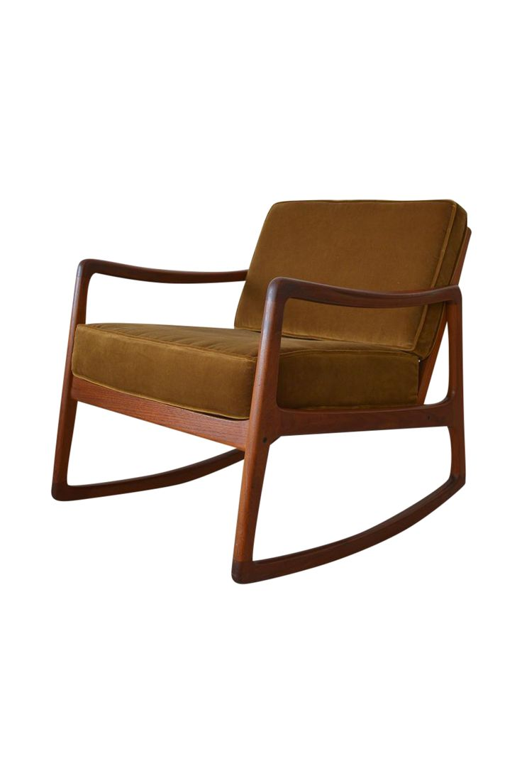 Ole Wanscher Danish Modern Teak Rocking Chair