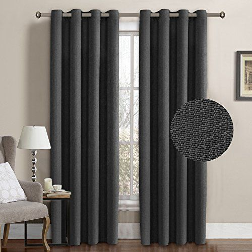 H.Versailtex Classical Grommet Room Darkening Thermal Insulated Heavy Weight Textured Tiny Plaid Linen Like Innovated Extra Long Curtains&Drapes,108 by 52 Inch-Charcoal Gray (1 Panel) #H.Versailtex #Classical #Grommet #Room #Darkening #Thermal #Insulated #Heavy #Weight #Textured #Tiny #Plaid #Linen #Like #Innovated #Extra #Long #Curtains&Drapes, #Inch #Charcoal #Gray #Panel)