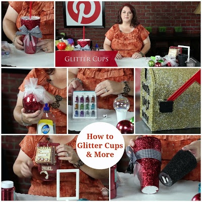 Lori Allred - Glitter Cups Learn tips and tricks to adding glitter to cups, jars, frames, mailboxes and more!