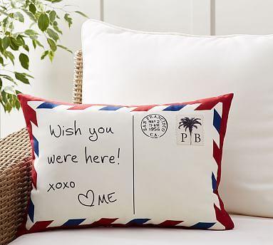 Postcard Indoor/Outdoor Lumbar Pillow #potterybarn