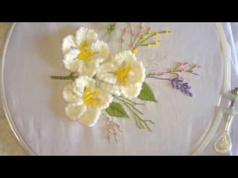 Hand embroidery. Brazilian embroidery. - YouTube
