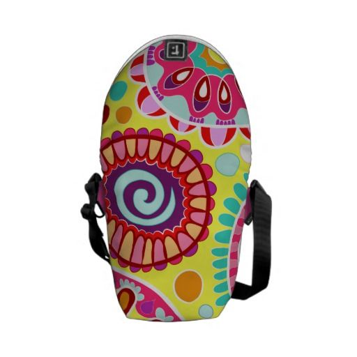 Groovy Colorful Abstract Mini Messenger Bag
