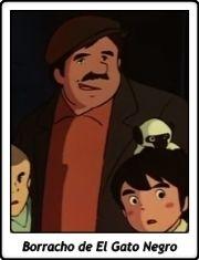 Borracho de El Gato Negro / Marco. De los Apeninos a los Andes / Haha wo tazunete sanzenri / anime /  TV Serie / 1976
