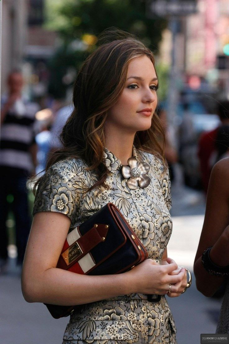 Fantastic Tapestry Inspired Dress On Leighton Meester. Gossip Girl ...