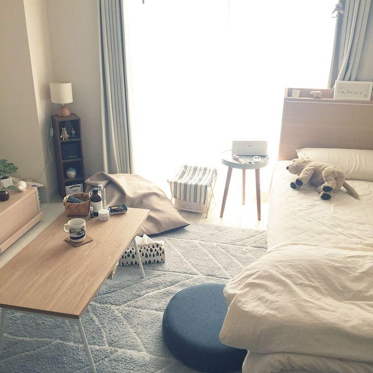 部屋全体 模様替え 一人暮らし 北欧 1k などのインテリア実例 2018 10 14 14 14 48 Roomclip ルームクリップ インテリア ベッドルームのデザイン 部屋