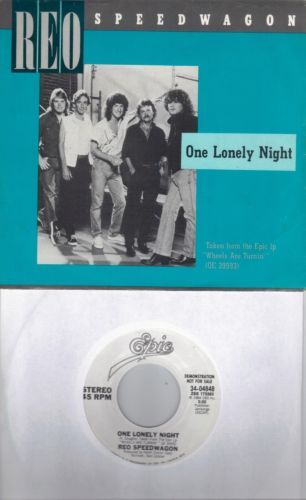REO-SPEEDWAGON-One-Lonely-Night-promo-45-with-PicSleeve-GARY-RICHRATH