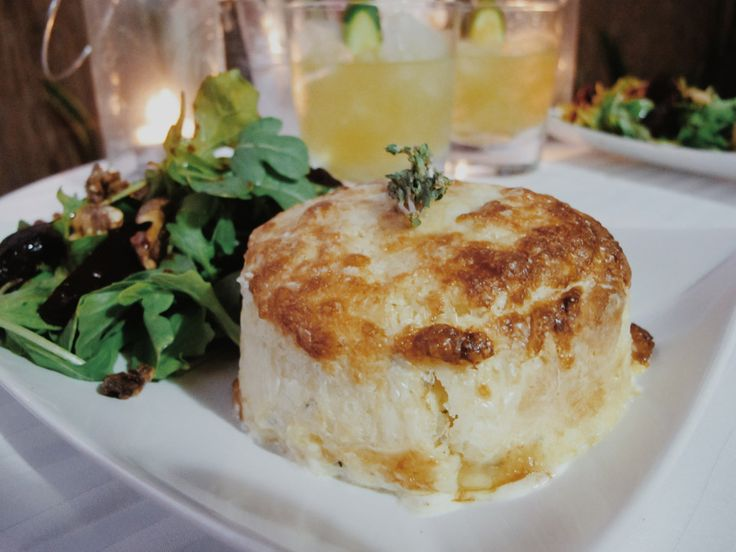 Manu Feildel's Twice Baked Cheese Souffle with Maggie Beer's Beetroot and Vino Cotto Salad