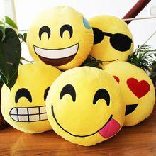 Grande taille 32 * 32 * 8 cm 19 Styles Emoji téléphone emotion en peluche coussin maison & jardin voitures et bureau oreiller jouets(China (Mainland))