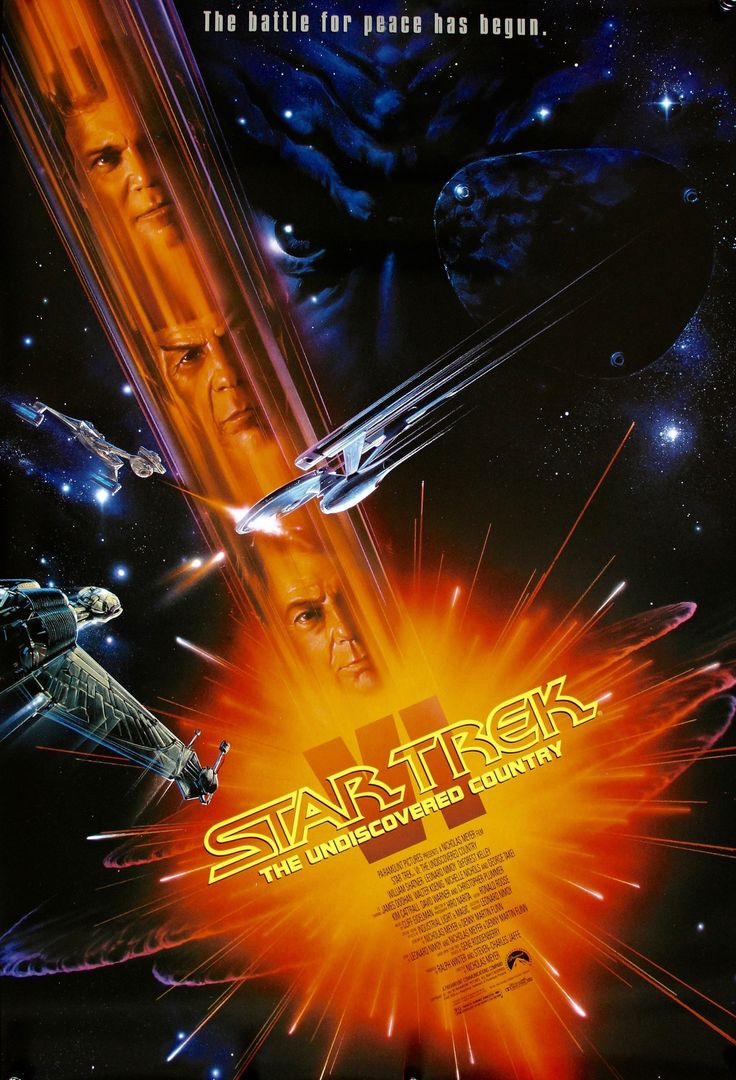 Star Trek VI: The Undiscovered Country (1991) Vintage Movie Poster