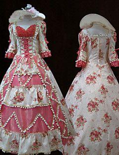 vestito dalla principessa steampunk®top stampa rosa vendita del vestito da partito vittoriano cosplay reale abiti da ballo