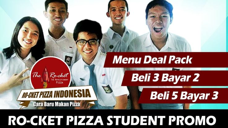 Student Promo at Rocket Pizza Indonesia Tamini Square