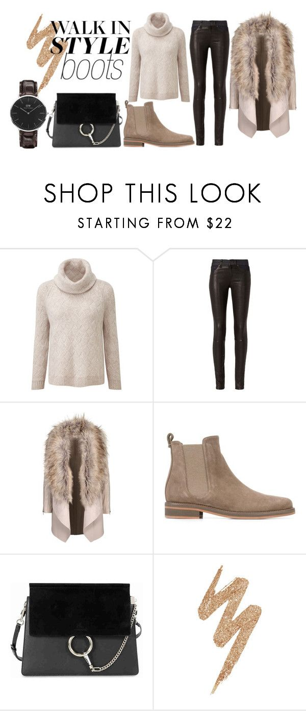 """Chelsea Boots"" by sarra-rafa on Polyvore featuring mode, rag & bone, Loro Piana, Chloé, Urban Decay, Daniel Wellington, Fall, neutrals, autumn et nude"