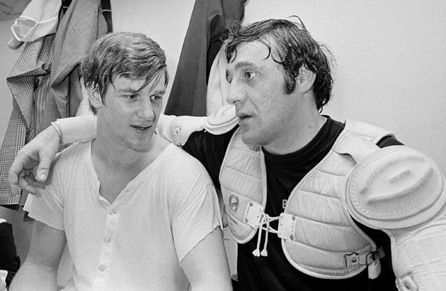 Bobby Orr and Phil Esposito, Boston Bruins,1971