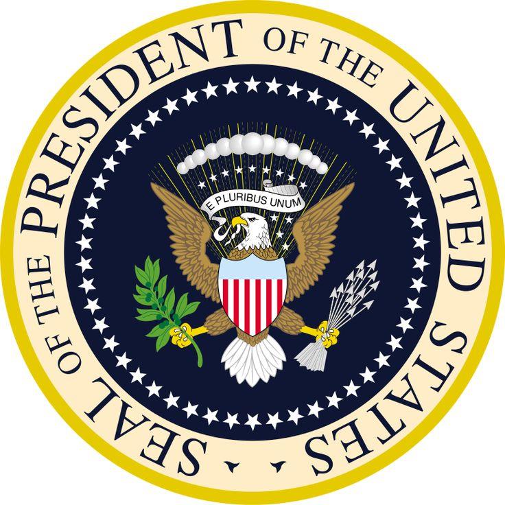 Brasão do Presidente dos EUA. Seal of the President of the USA.