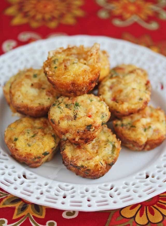 Mini Frittatas with Ham and Cheese Recipe ~ http://jeanetteshealthyliving.com