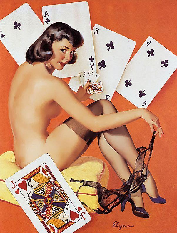 Картинки игральные карты с девушками, открытка конверт