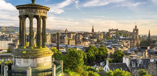 Schottenröcke in Edinburgh, schon alleine darum lohnt sich ein Besuch dieser Stadt