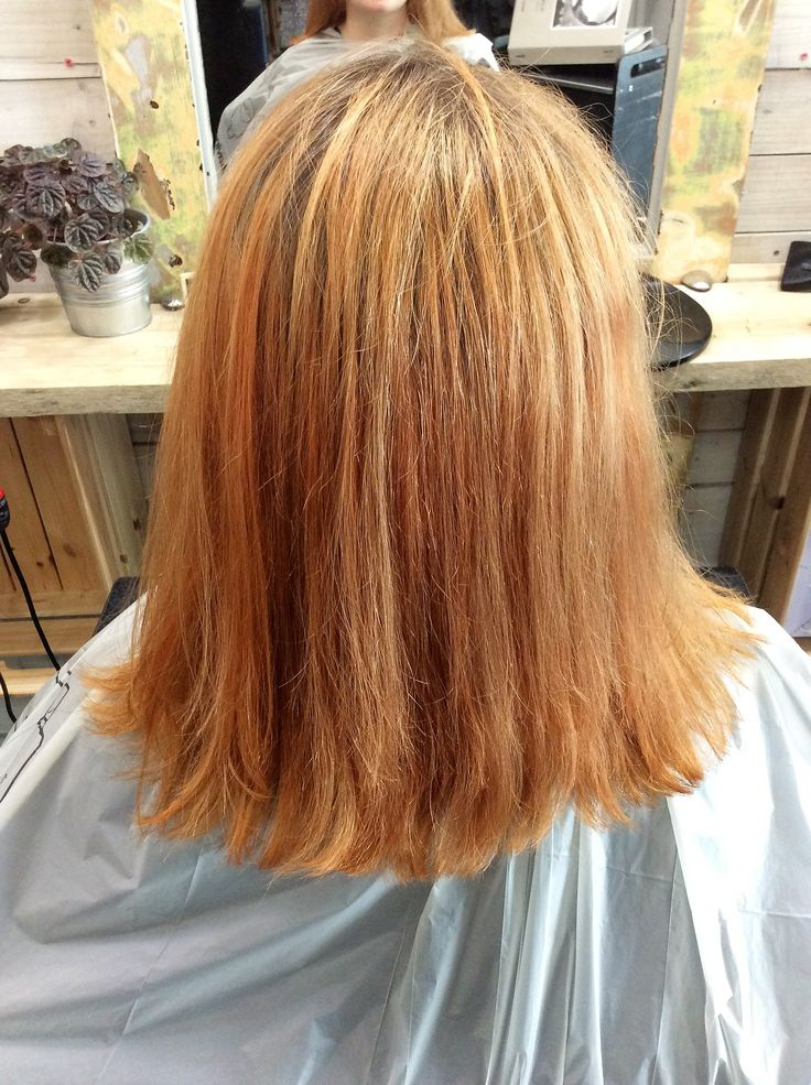 Client's hair after using Davines Pre Pigments. #sdhair #prepigment #davines #colour