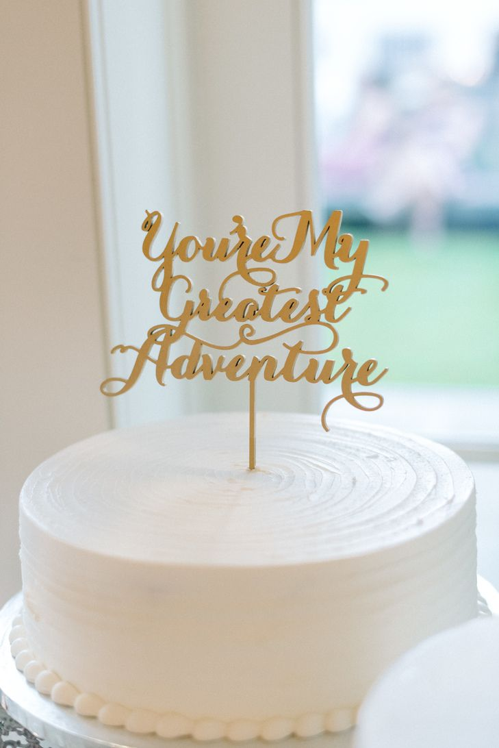 196 best rad cake toppers images on pinterest cake wedding gold custom adventure wedding cake topper palermos custom cakes bakery michelle junglespirit Images