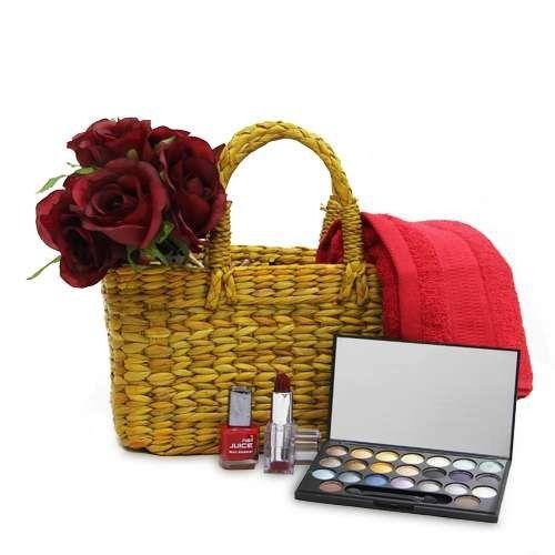 Luxury Makeup Basket Hamper