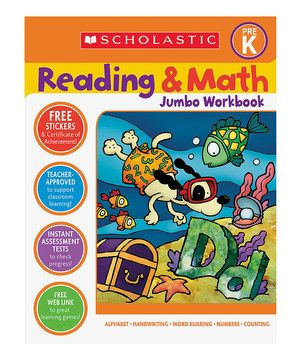 8 best learning to read images on pinterest love early childhood scholastic reading math jumbo workbook grade pre k book malachi loves these learning activities fandeluxe Image collections