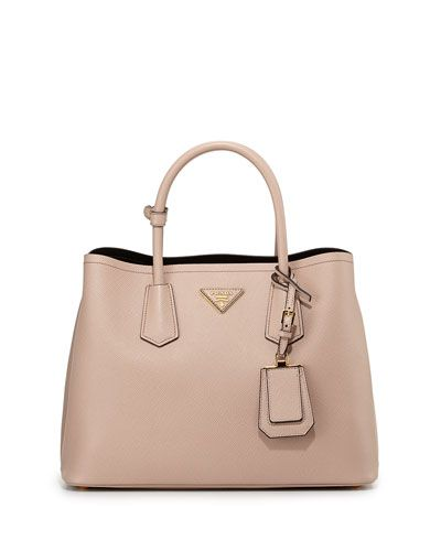 Prada Saffiano Cuir Small Double Bag, Blush | Bags | Pinterest ...