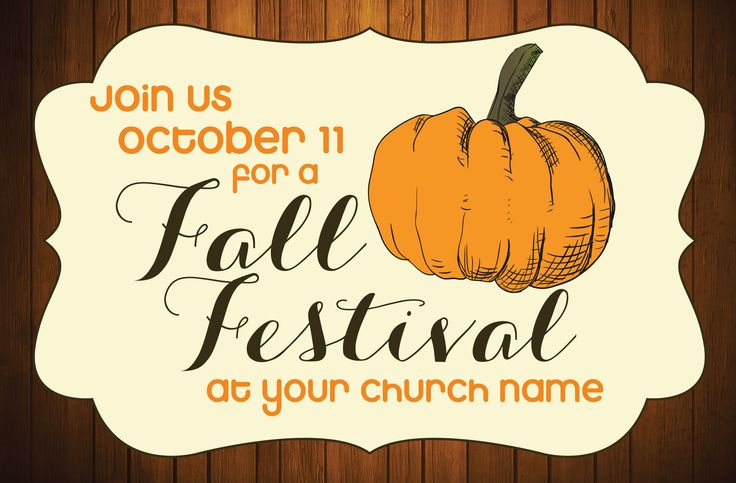 Rustic Fall Festival Postcard Invitation | Church Marketing | Christian Fall Festival