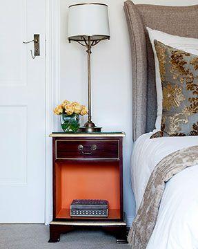 Mahogany bedroom pedestal.