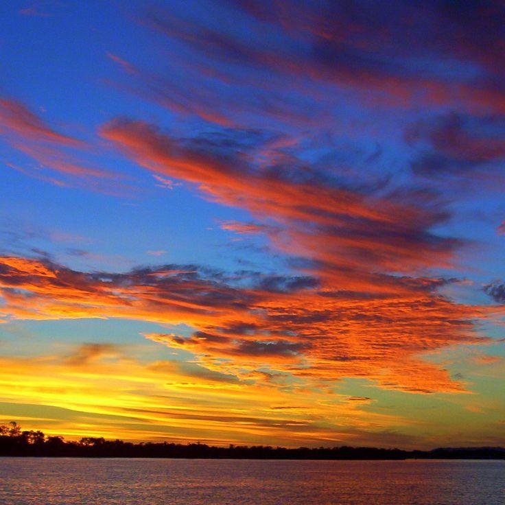 Sunset Moreton Bay Queensland Australia