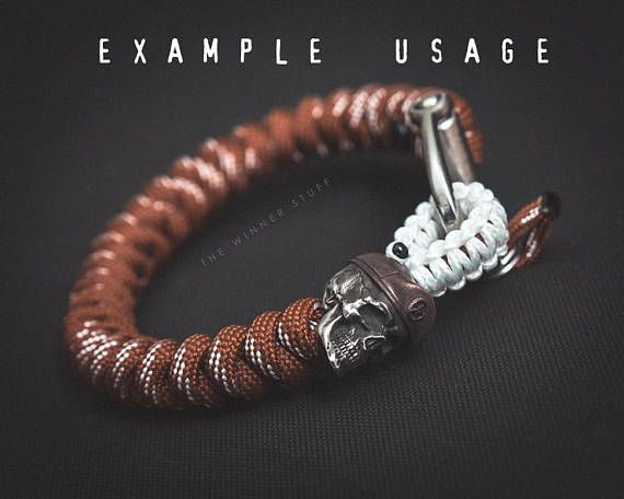Maroon Beret Paracord Bead Lanyard Knife In Solid Pewter