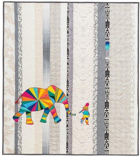 """Elephant and I"" Designer Pattern by Jennifer Sampou: Robert Kaufman Fabric Company"