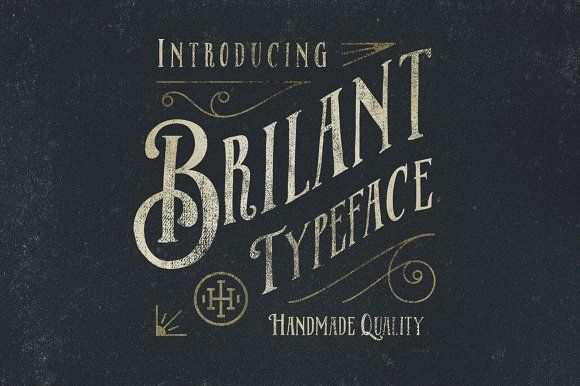 Brilant Typeface by ilhamherry on @creativemarket