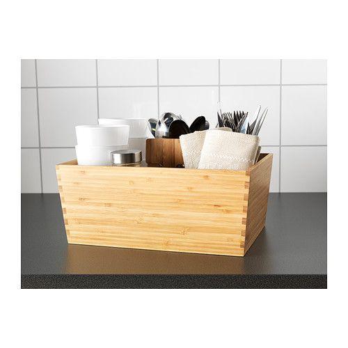 Kitchen Art 24cm: VARIERA Box With Handle Bamboo 33 X 24 Cm