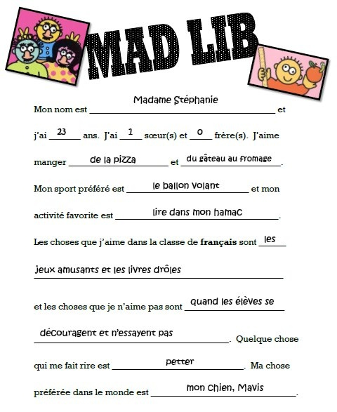 Agree, the Mature mad libs recommend