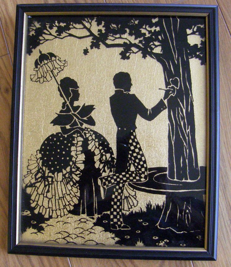 29 Best Antique 1930 S Convex Glass Silhouette Pictures