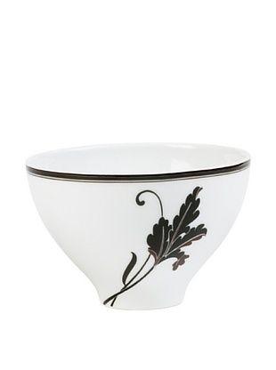 64% OFF Mikasa Cocoa Blossom Rice Bowl, White/Dark Brown Lily
