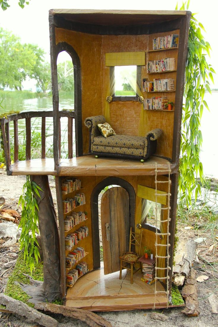 My Froggy Stuff: Our Doll Tree House... And All The Little Fun Things That  Go With It | Tree Trunk Fairy House | Pinterest | Fun Things, Dolls And  Stuffing Part 59