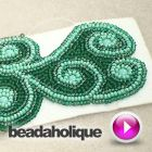 How to Do Bead Embroidery Around Free-Formed Shapes | Beadaholique - video tutorials on how to begin bead embroidery
