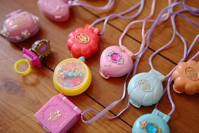 Vintage Polly Pocket Compact Necklaces