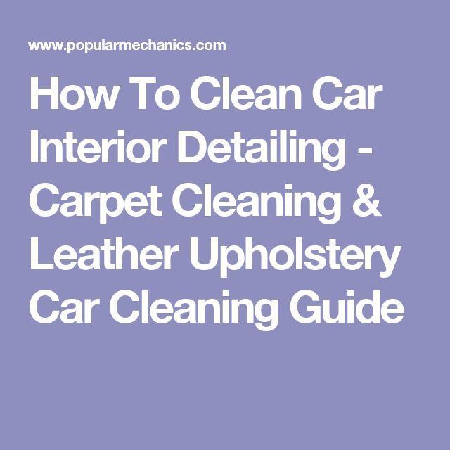 Best 25+ Clean Car Carpet Ideas On Pinterest
