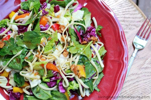 Asian Noodle Salad with Homemade Dressing