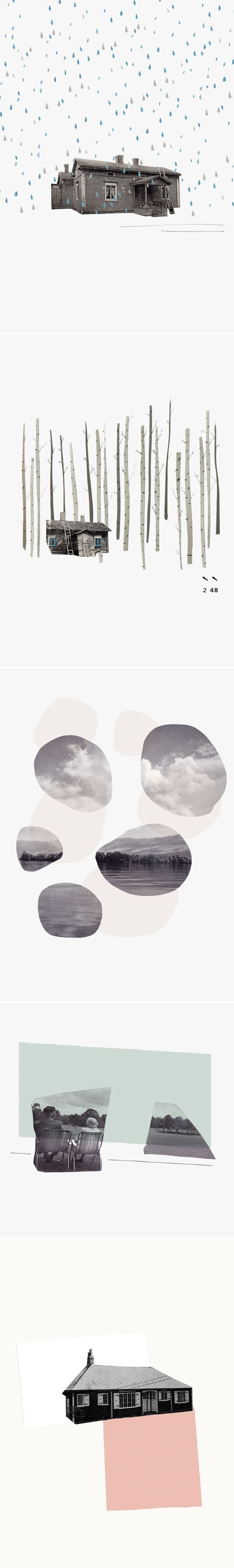 Simple. Quiet. Gorgeous. This is the work of UK based collage artist Lucy Driscoll… also known as my...: