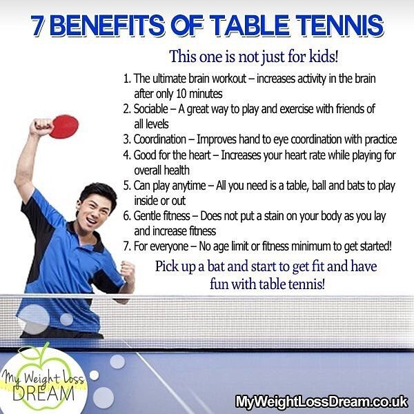 Benefits Of Table Tennis Health Ping Tabletennis Table
