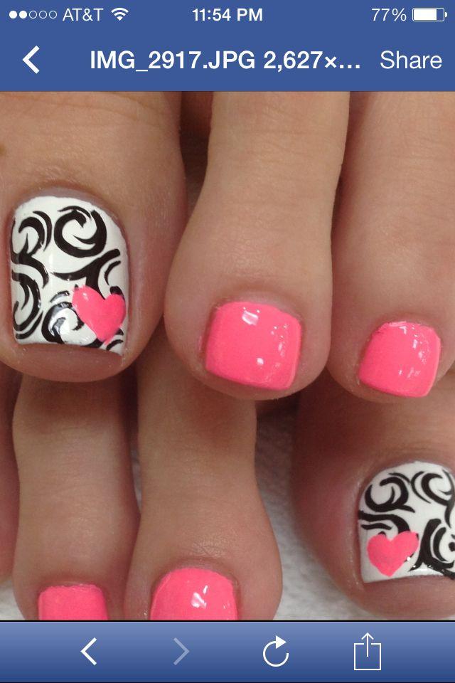 Pink Paisley Heart
