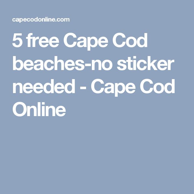5 free Cape Cod beaches-no sticker needed - Cape Cod Online