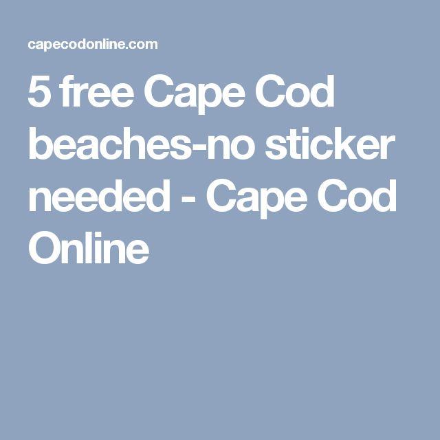 5 free Cape Cod beaches-no sticker needed - Cape Cod Online